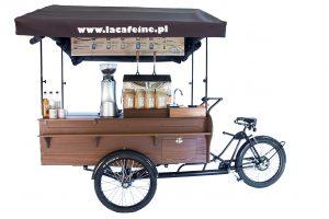 Rower kawiarnia mobilna