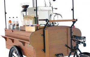 Kawa prosto z rowerowej kawiarnia mobilna